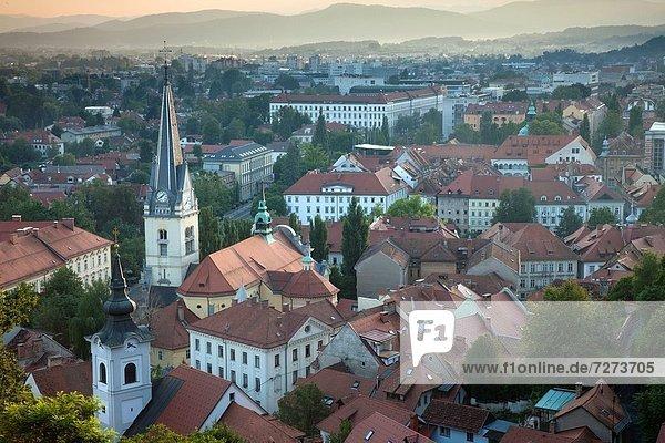 Ljubljana Hauptstadt Stadt Kirche alt Slowenien