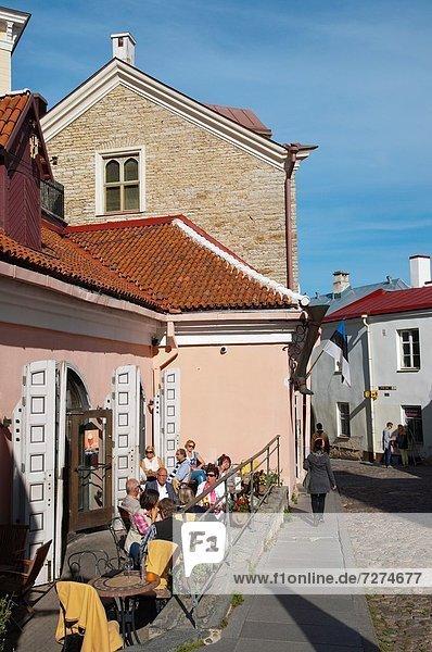 Tallinn  Hauptstadt  Europa  Straße  Stadt  Cafe  vorwärts  Terrasse  Zimmer  Estland  alt