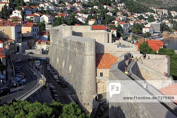 Stadtmauer Kroatien Dalmatien Dubrovnik