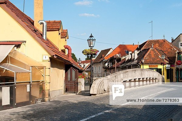 Old bridge and houses in the town of Samobor  Croatia