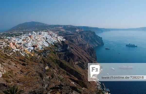 Berg  Schönheit  Ignoranz  Berggipfel  Gipfel  Spitze  Spitzen  Insel  Griechenland  Santorin  Fira  griechisch