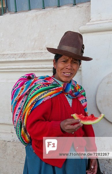 Frau  Tradition  Kostüm - Faschingskostüm  Cuzco  Cusco  Peru