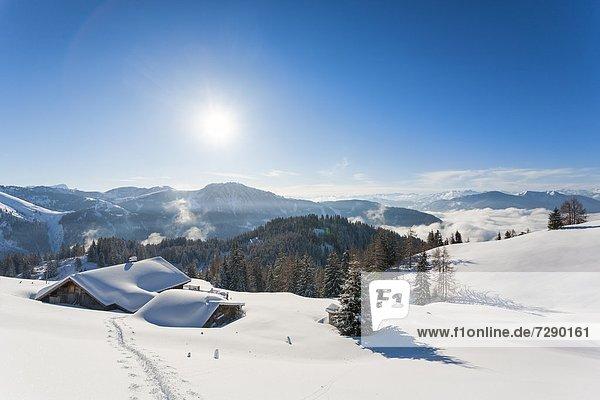 Elmaualm im Tennengebirge im Winter  Salzburger Land  Österreich