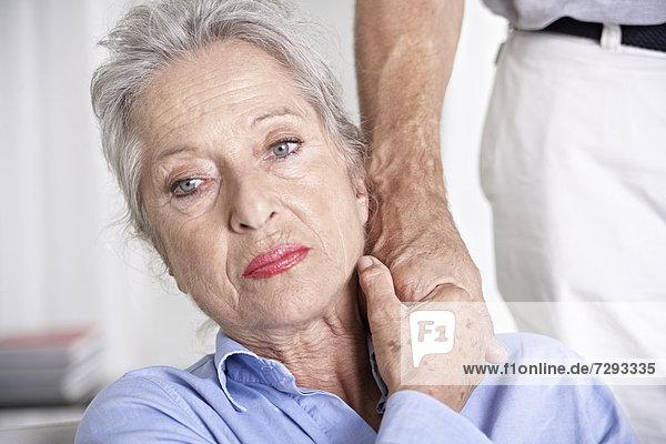 Spain  Mallorca  Senior couple holding hands  close up