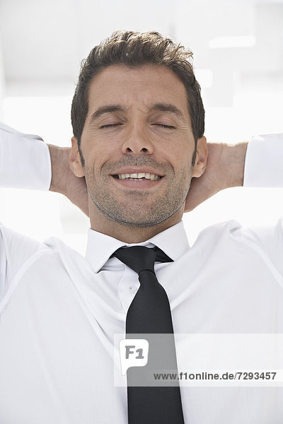 Spain  Businessman relaxing  smiling