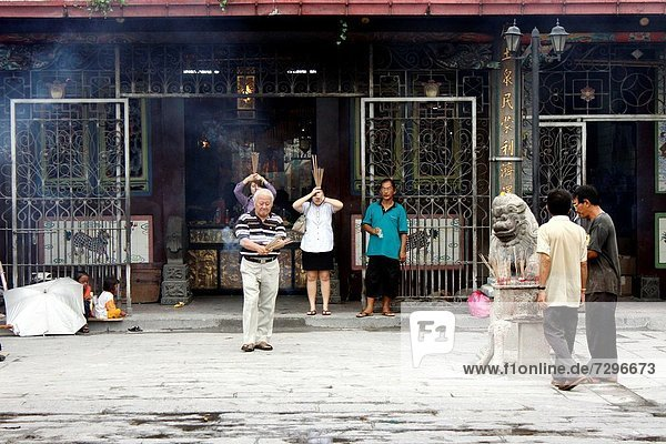 Chinese temple  Goddess of Mercy Temple  UNESCO World Heritage Site  Georgetown  Penang Hill