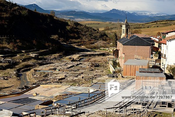 Salt flat in Añana is an Ancient place dated in 978  Alava  Basque Country  Spain