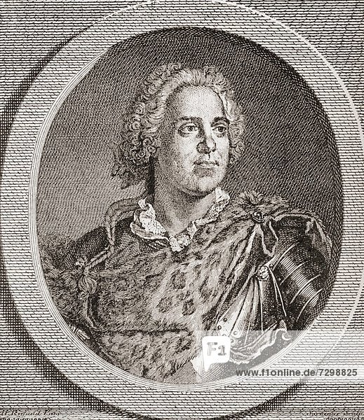 Maurice de Saxe  1696 –1750 German in French service Marshal and later also Marshal General of France From Les Heures Libres published 1908