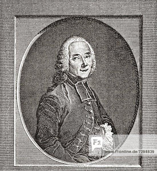 Claude-Henri de Fusée  abbé de Voisenon  1708 – 1775 French dramatist and writer From Les Heures Libres published 1908