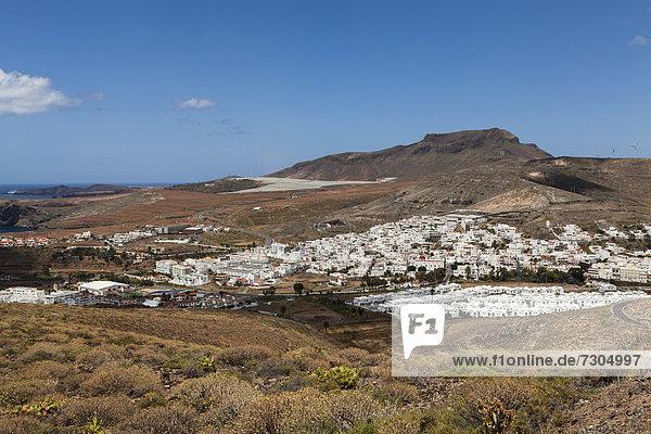Die Ortschaft Agaete  Gran Canaria  Kanarische Inseln  Spanien  Europa  ÖffentlicherGrund