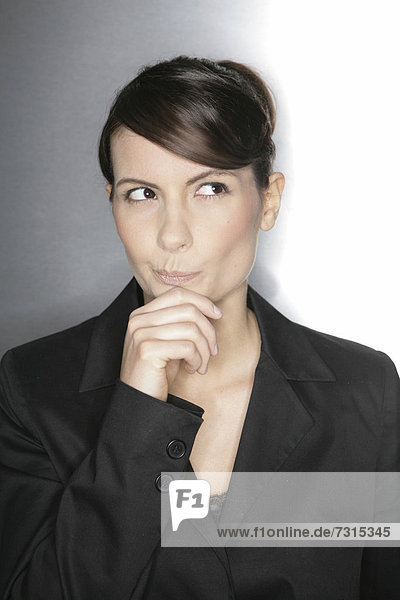 Businesswoman  aged 24  pensive