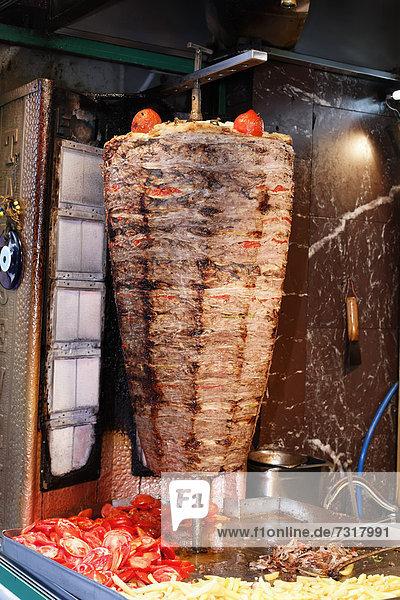 Doner kebab  skewer  Istanbul  Turkey  Europe
