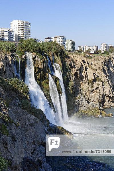 Düden waterfall or Karpuzkaldiran waterfall  Antalya  Turkish Riviera  Turkey  Asia