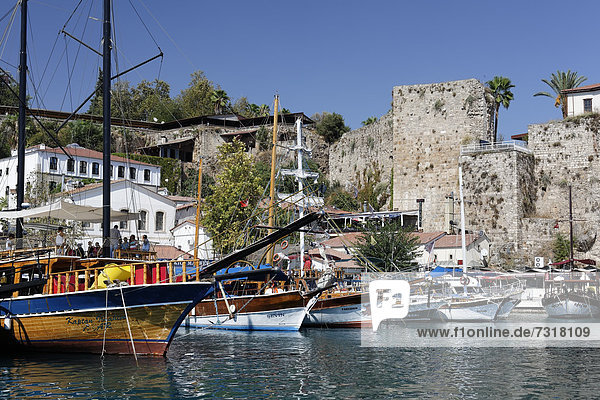 Port in the historic town centre of Antalya  Kaleici  Turkish Riviera  Turkey  Asia