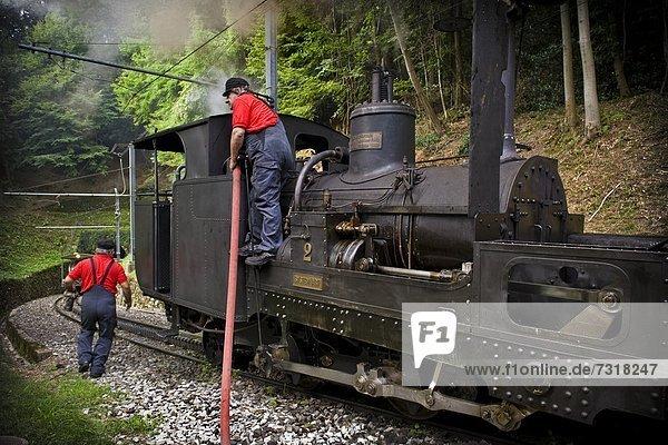 Switzerland  Canton Ticino  Monte Generoso Railway  steam train