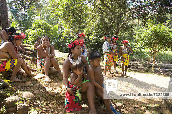 Frau  Amerika  Dorf  Indianer  jung  Mittelpunkt  Panama