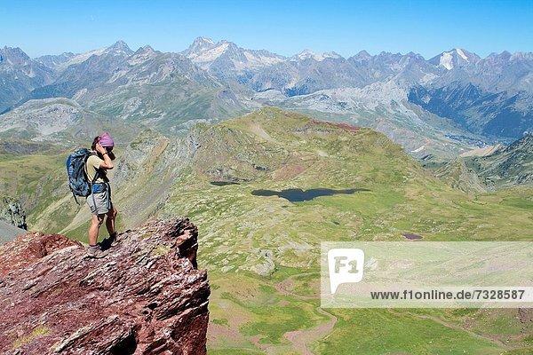 Berggipfel  Gipfel  Spitze  Spitzen  Tal  Vulkan  wandern  Huesca  alt  Pyrenäen  Spanien