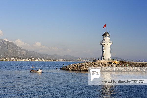 Hafen Leuchtturm Alanya Antalya Asien Türkei