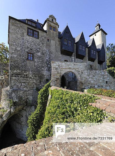 Burg Ranis  Ranis  Thüringen  Deutschland  Europa