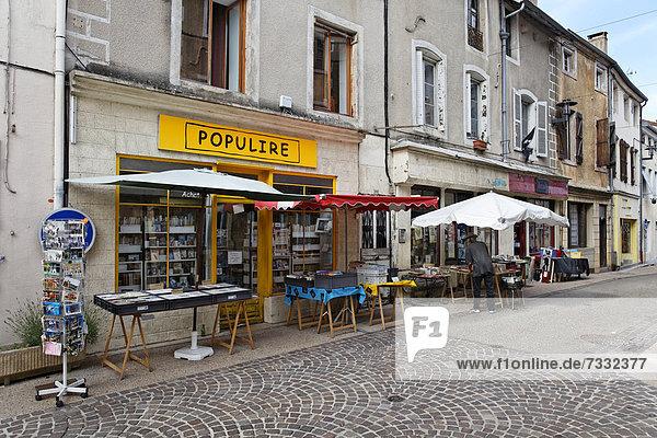 Frankreich Europa Buch Antiquität Dorf Buchhandlung Taschenbuch