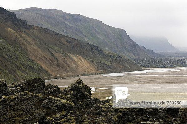 Volcanic landscape  Landmannalaugar  Iceland  Europe