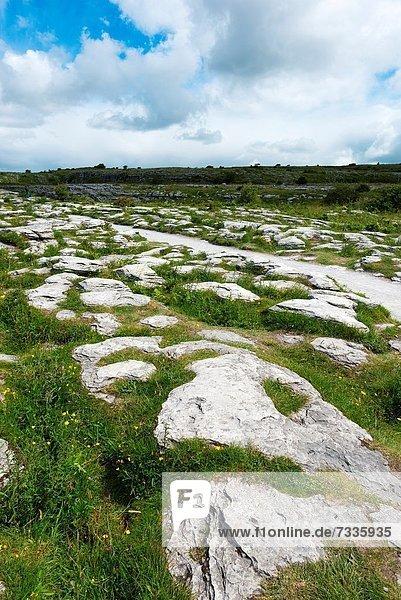 Felsbrocken Einsamkeit Bürgersteig sprechen Irland verlassen Kalkstein Burren
