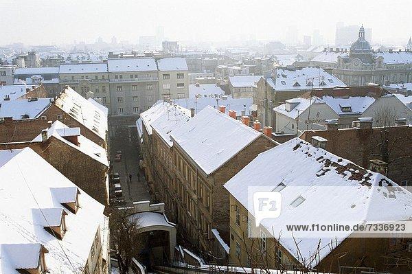 Zagreb  Hauptstadt  Europa  Winter  Großstadt  Hauptstadt  Kroatien
