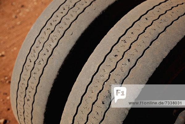 Detail von zwei Reifen