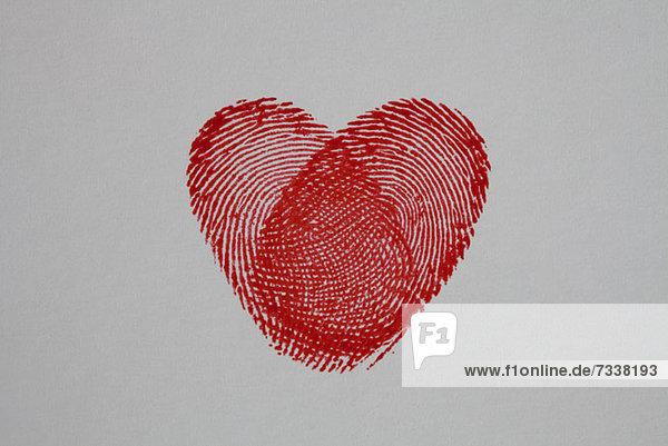Daumenabdruck Herz
