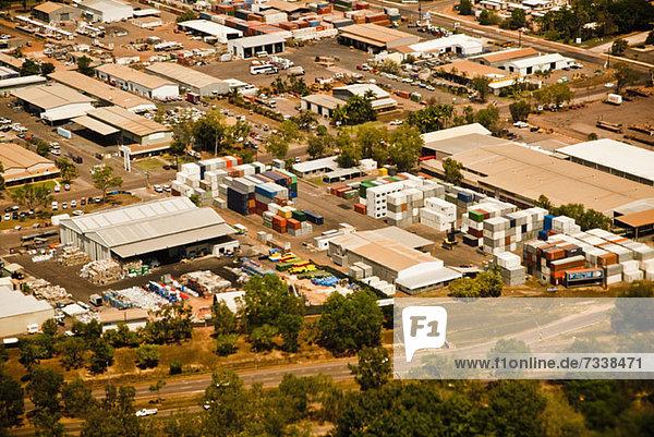 Luftaufnahme eines Industriegebietes