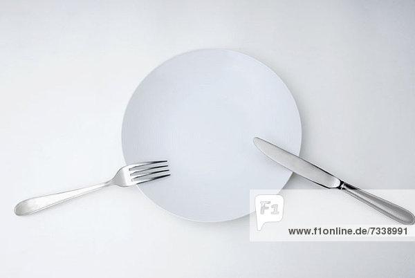 Messer  Gabel und Teller