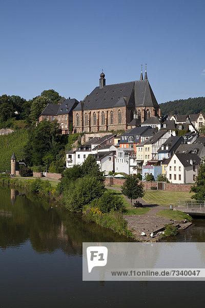 Europa Kirche Ansicht Deutschland Rheinland-Pfalz Saarburg