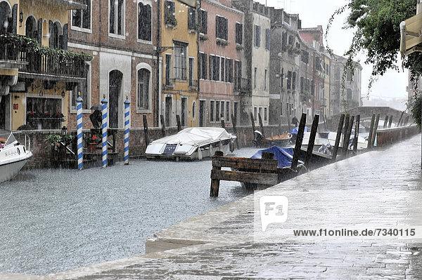 Europa Regen Venetien Italien
