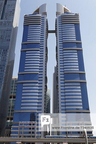 Wolkenkratzer Emirates Grand Hotel  Sheikh Zayed Road  Dubai International Financial Centre  DIFC  Dubai  Arabische Emirate  Naher Osten  Asien