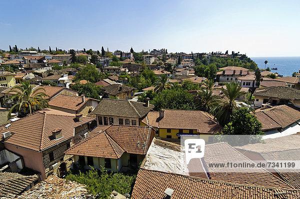 View of the old town of Antalya  KaleiÁi  Turkey  Asia