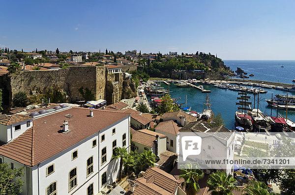 View of the harbour of Antalya  Turkish Riviera  Turkey  Asia Minor