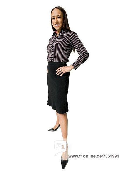 stehend  Portrait  Geschäftsfrau