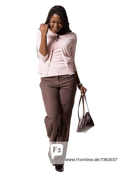 Frau  gehen  Tasche  jung