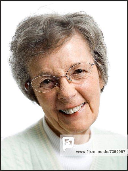 Portrait of ältere Frau lächelnd