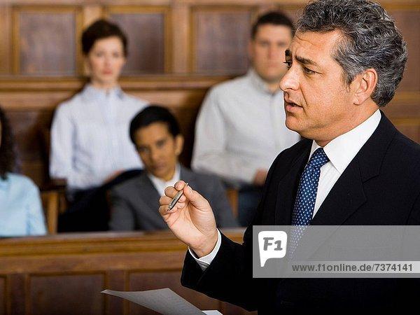 sprechen  Anwalt  Gerichtssaal
