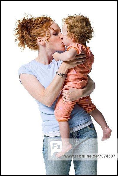 Frau  küssen  jung  Tochter