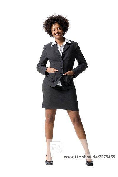Maultasche  stehend  Portrait  Geschäftsfrau
