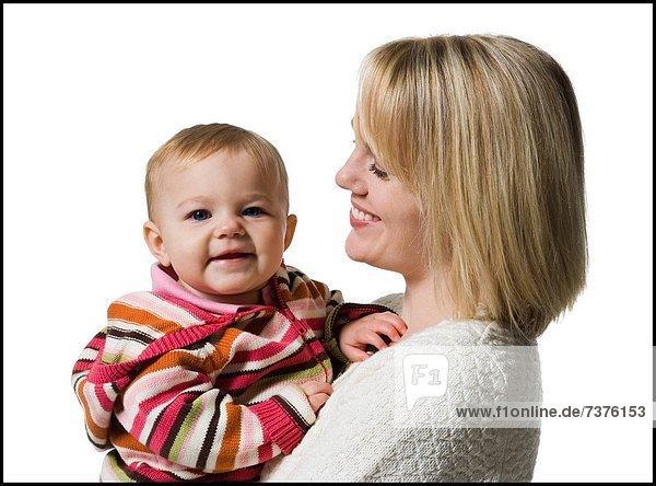Frau  halten  Mädchen  Baby