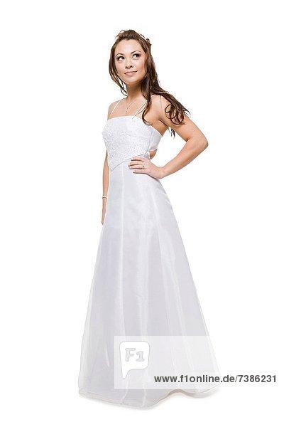 Frau  Braut  Kleid