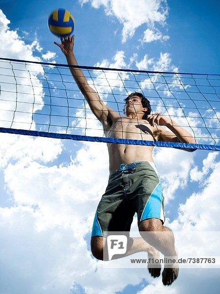 Spiel  springen  Volleyball