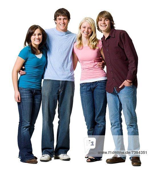4  Mensch  Menschen  lächeln