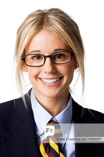 Portrait  Geschäftsfrau  Kleidung  Studioaufnahme