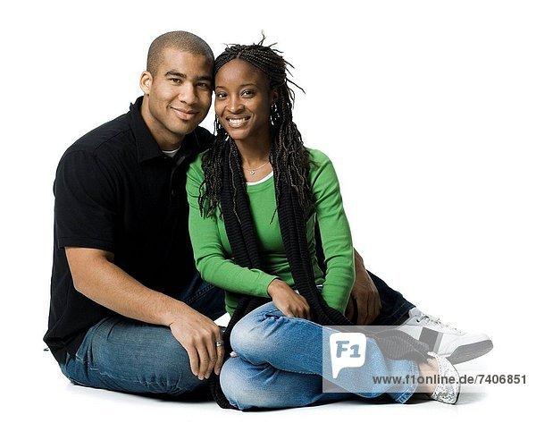 Paar posieren