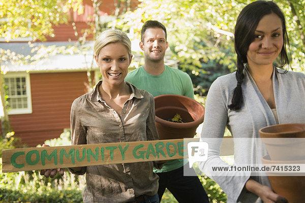 Freundschaft Vorbereitung Gemeinschaft Garten 3