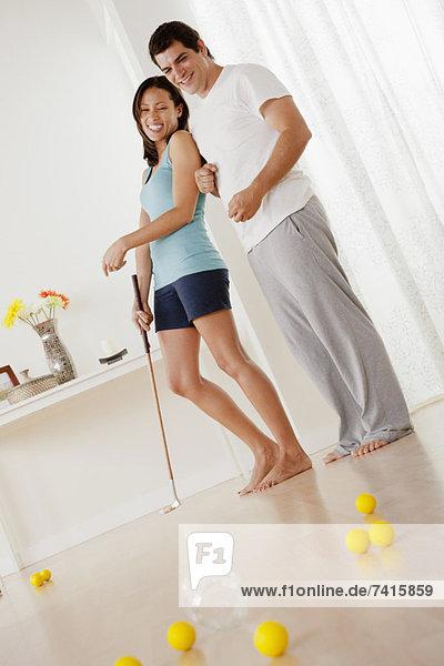 Interior  zu Hause  Golfsport  Golf  spielen